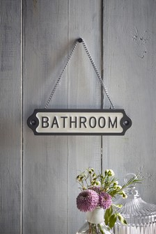 Bathroom Hanging Sign