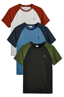 Colour Raglan T-Shirts Three Pack