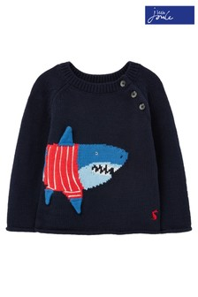 Joules Blue Stanley Intarsia Jumper