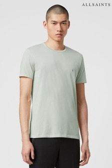 חולצה עם צווארון עגול ושרוול קצר של AllSaints דגם Tonic בירוק