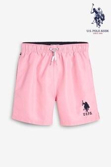 U.S. Polo Assn. - Zwemshort met ruiterprint