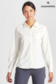 חולצה בצבע לבן דגם Kiwi שלCraghoppers