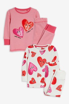 2 Pack Cotton Snuggle Pyjamas (9mths-12yrs)