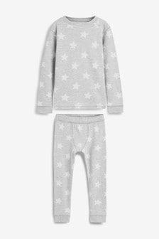 Set de pijamale comode groase cu imprimeu stea (1.5-16ani)