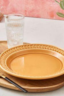 Set of 4 Portmeirion Yellow Botanic Garden Harmony Plates