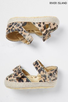 River Island Brown Leopard Sandals