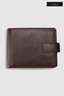 Podwójnie składany portfel Signature z włoskiej skóry, o powiększonej pojemności