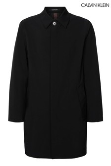 Calvin Klein Black Water Repellent Taffeta Coat