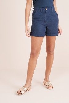 Pantalones cortos de mezcla de lino