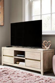 Amsterdam Light Mango Wood Wide TV Stand