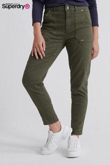 Superdry Khaki Slim Trousers