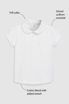Frill Collar Poloshirt (3-16yrs)