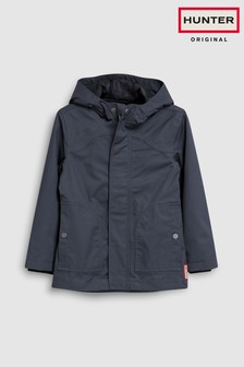 Hunter Original - Impermeabile blu navy per bambini in cotone