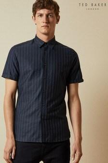 Ted Baker Handeez Short Sleeve Dotted Stripe Shirt