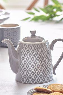Geo Tea Pot Embossed