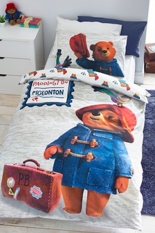 Paddington Bear And Pidgeonton Reversible Duvet Cover and Pillowcase Set