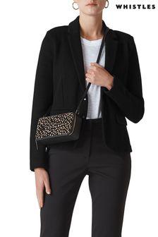 Whistles - Zwart slim-fit jersey jasje