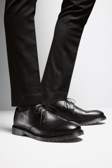 Cleated Sole Derby Shoes