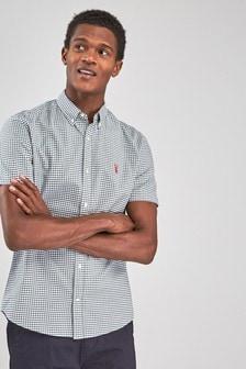 Gingham Check Regular Fit Shirt