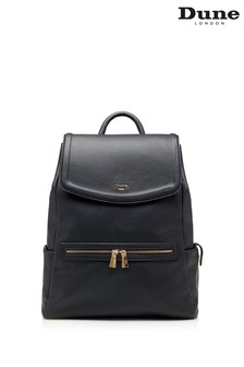 Dune London Black Dawsson Large Work Backpack