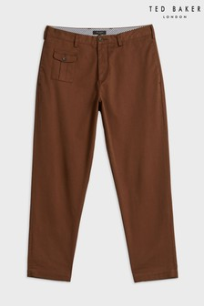 Ted Baker Brown Asahi Tapered Cropped Trousers