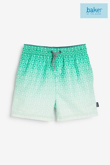 Зеленые пляжные шорты с эффектом омбре Baker by Ted Baker (для мальчиков)