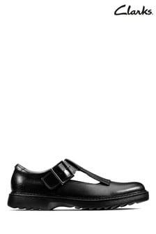 Clarks Black Asher Verve Y Shoes