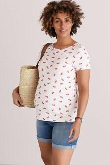Трикотажная футболка для беременных
