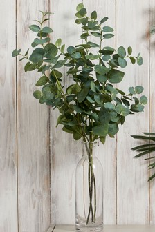 Lot de 3 branches d'eucalyptus artificielles