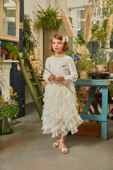Angel's Face White Jazz Skirt