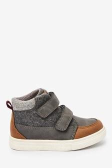 Ботинки на липучках с теплой подкладкой (Младшего возраста)