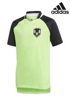 Зеленый трикотажный топ adidas Messi