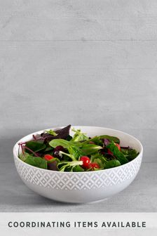 Komplet 3 Geo Embossed Serve Bowl