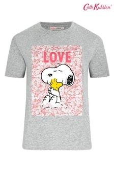 Cath Kidston® Snoopy T-Shirt mit Aufnäher, Grau