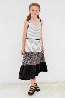 Ярусное платье макси (3-16 лет)