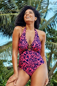 Figleaves Leopard Singita Non Wired Tummy Control Swimsuit