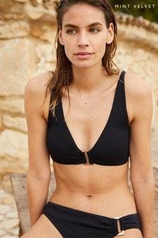 Mint Velvet - Diepuitgesneden bikinitop