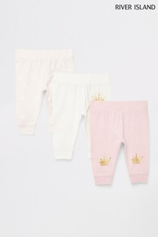 River Island Pink Light Princess Leggings Three Pack