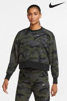 Nike DriFIT Get Fit Trainings-Sweatoberteil mit Camouflage-Muster