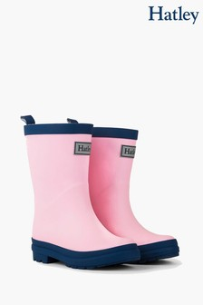 Hatley Pink Matte Rain Boots