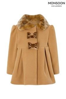 Monsoon Baby Camile Camel Coat