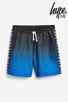 Pantalones cortos en azul/negro descolorido de Hype.