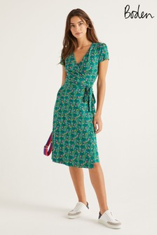 Boden Green Summer Wrap Dress