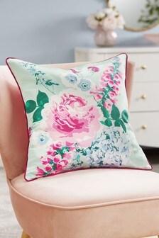 Подушка с цветочным принтом Romance Painterly