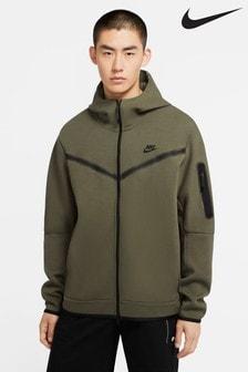Flísová funkčná mikina s kapucňou a zipsom Nike