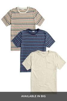 Lot de trois t-shirts rayés