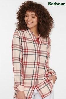 חולצת משבצות ורודה של Barbour® Coastal דגם Baymouth