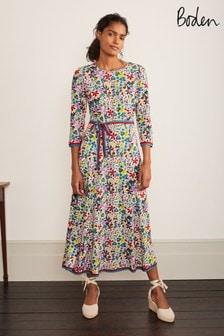 فستان متوسط الطول لون كريمAdora منBoden
