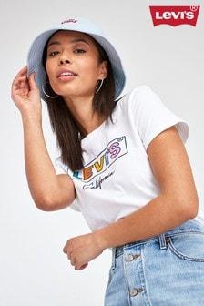 Levi's® White Multi Boxtab Logo T-Shirt