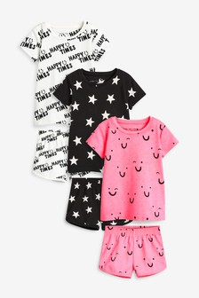 3 Pack Kort Pyjamas (9mths-8yrs)